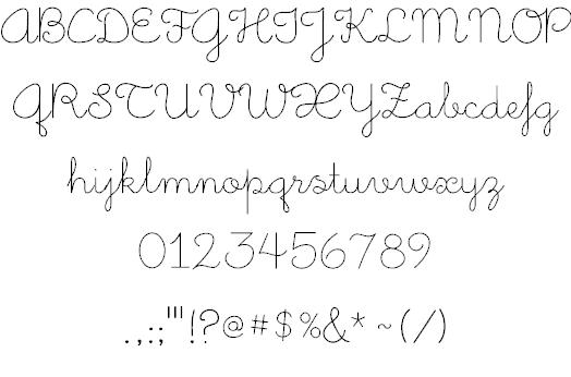 Little Days шрифт скачать бесплатно