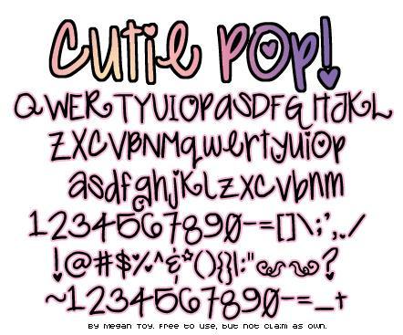 Cutie Pop шрифт скачать бесплатно
