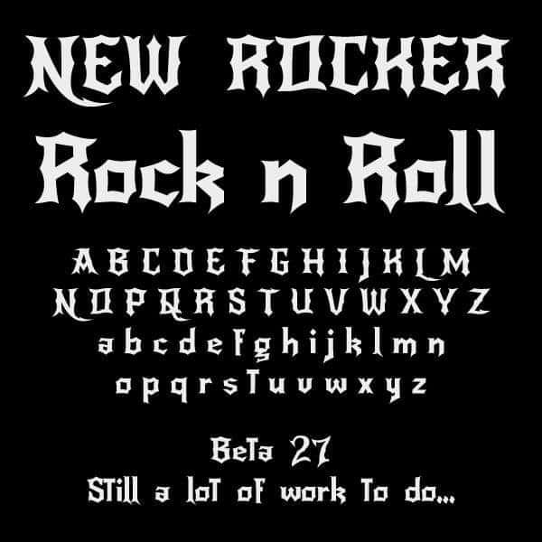 NewRocker шрифт скачать бесплатно