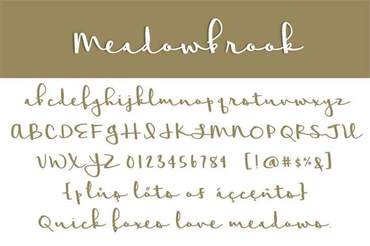 Meadowbrook шрифт скачать бесплатно