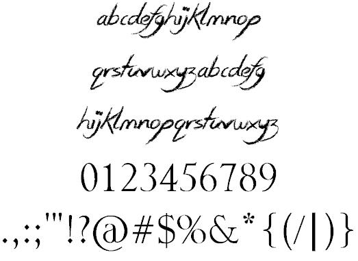 Smudgie Crayon шрифт скачать бесплатно