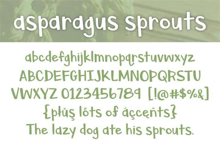 Asparagus Sprouts шрифт скачать бесплатно