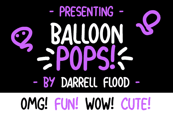 Balloon Pops шрифт скачать бесплатно