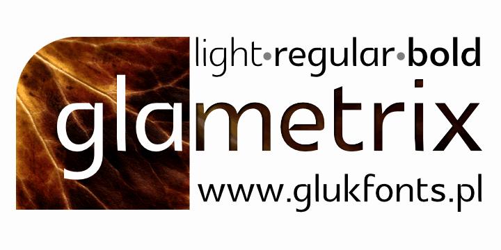 Glametrix шрифт скачать бесплатно