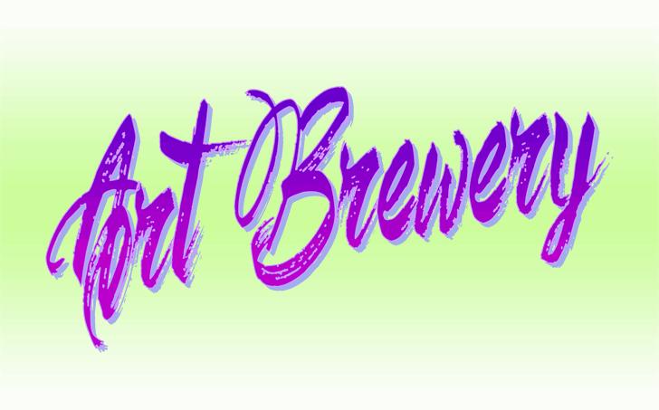 Art Brewery шрифт скачать бесплатно