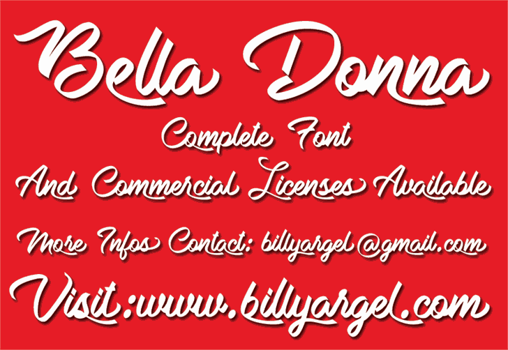 Bella Donna шрифт скачать бесплатно