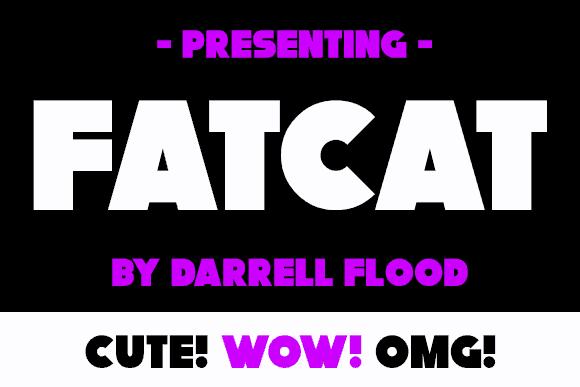 Fatcat шрифт скачать бесплатно