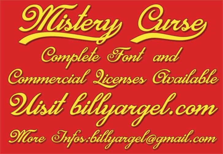 Mistery Curse шрифт скачать бесплатно