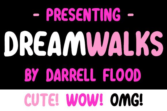Dreamwalks шрифт скачать бесплатно