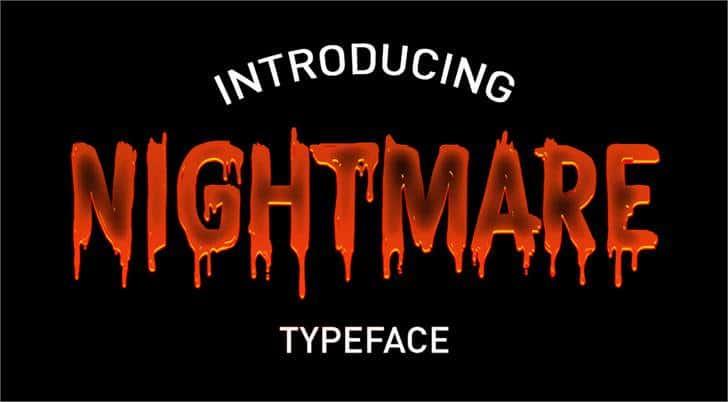 CF Nightmare шрифт скачать бесплатно