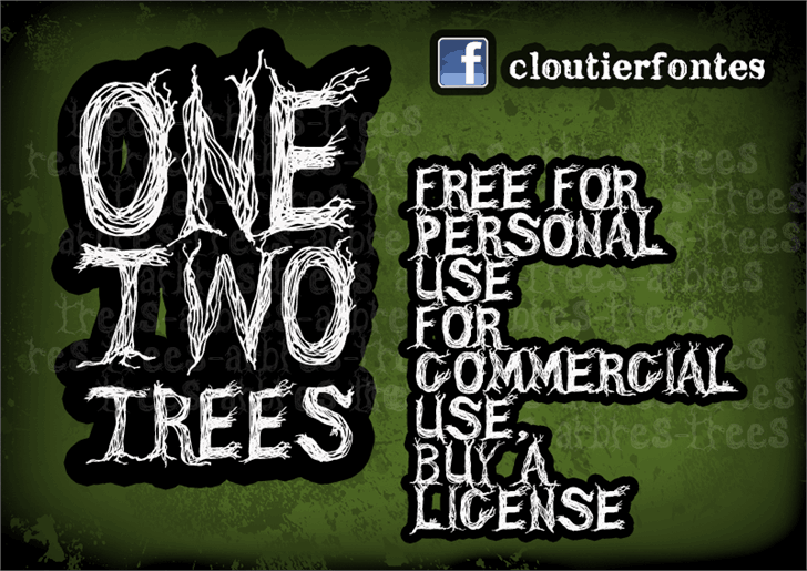 CF One Two Trees шрифт скачать бесплатно