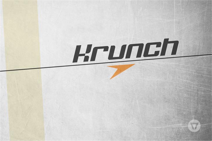 Krunch шрифт скачать бесплатно