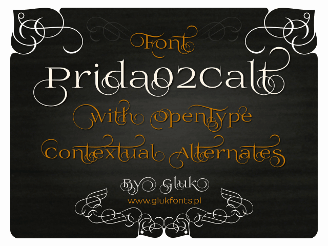Prida02Calt шрифт скачать бесплатно