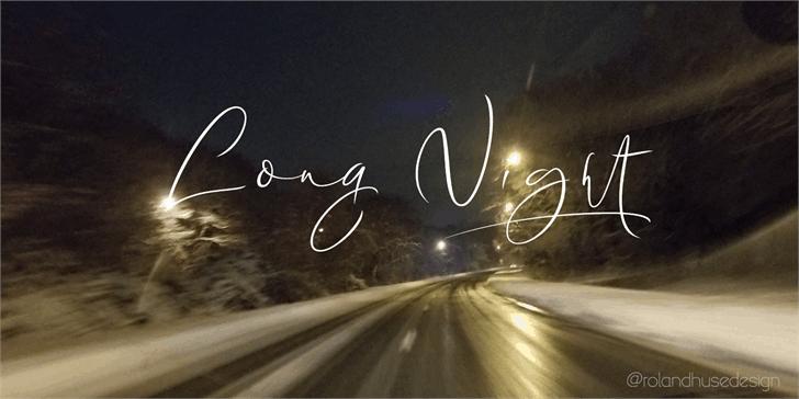 Long Night Demo шрифт скачать бесплатно