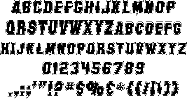 SF Collegiate шрифт скачать бесплатно