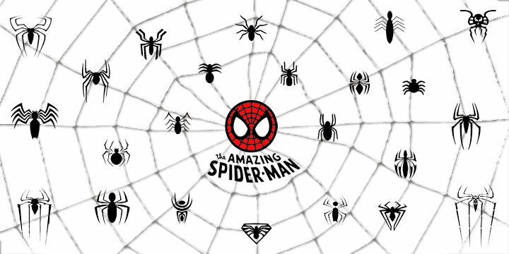 THE AMAZING SPIDER-MAN шрифт скачать бесплатно