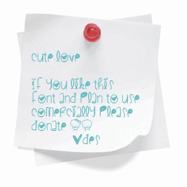 CuteLove шрифт скачать бесплатно