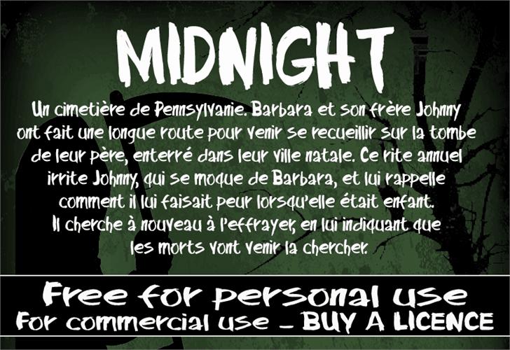 Midnight шрифт скачать бесплатно