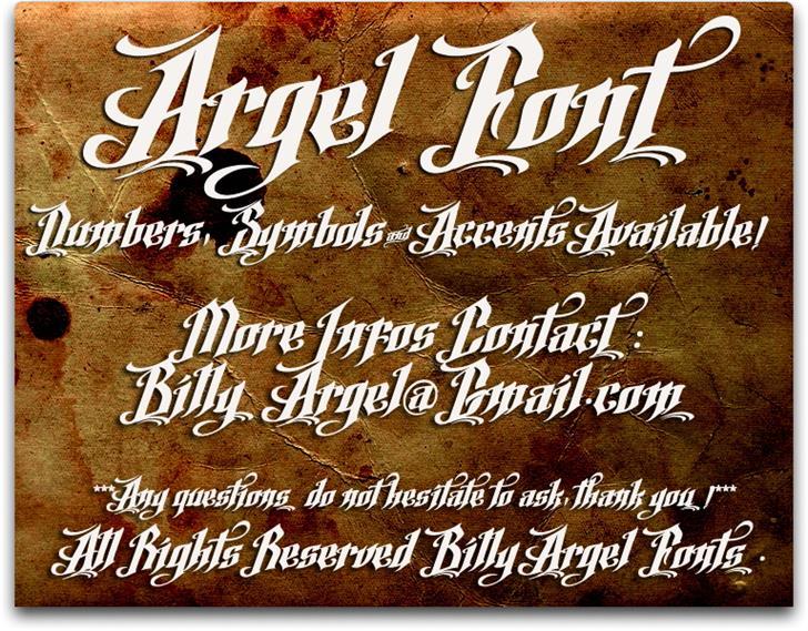Argel шрифт скачать бесплатно