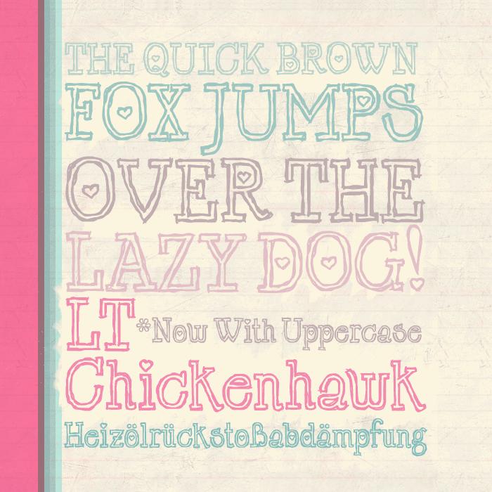 LT Chickenhawk шрифт скачать бесплатно