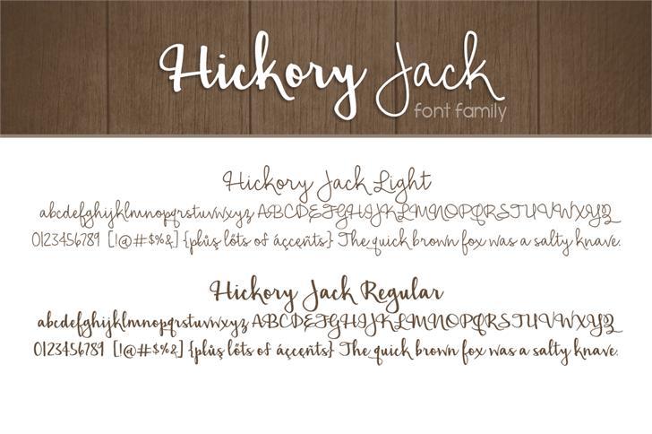 Hickory Jack шрифт скачать бесплатно