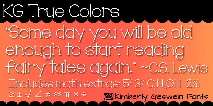 KG True Colors шрифт скачать бесплатно