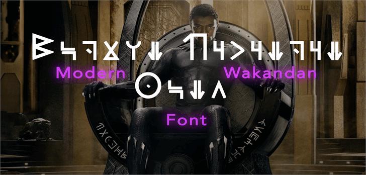 Modern Wakandan шрифт скачать бесплатно