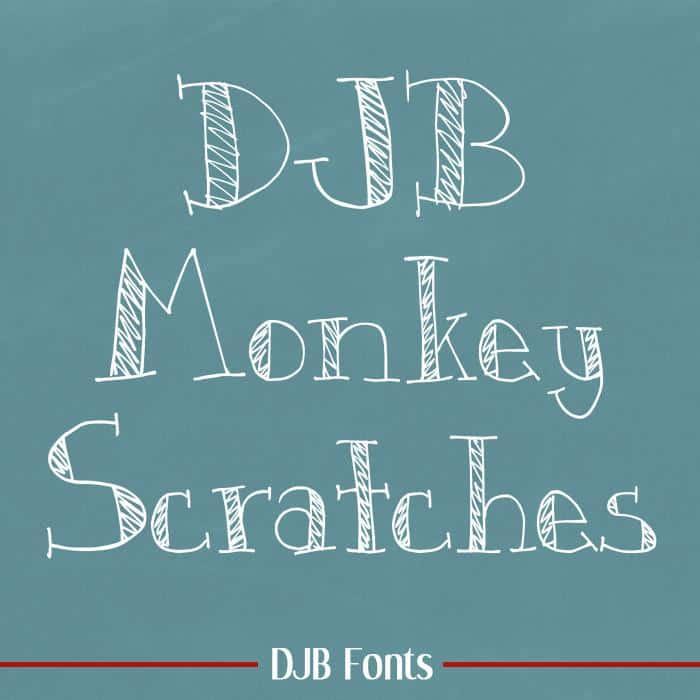DJB Monkey Scratches шрифт скачать бесплатно