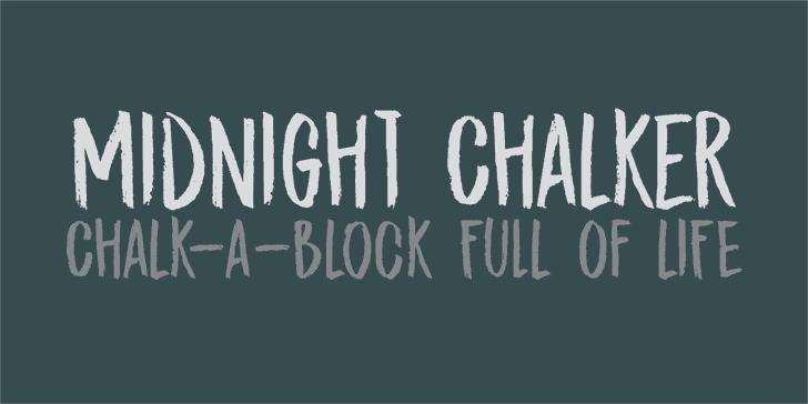 DK Midnight Chalker шрифт скачать бесплатно