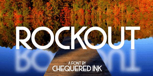 Rockout шрифт скачать бесплатно