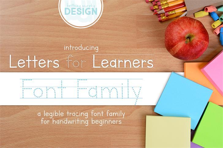 Letters for Learners шрифт скачать бесплатно