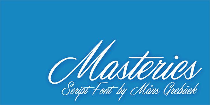 Masterics шрифт скачать бесплатно