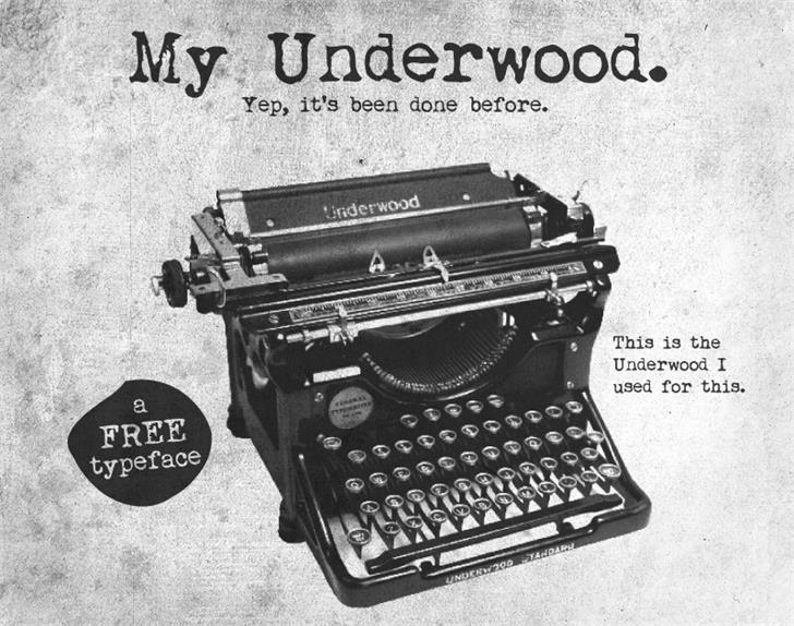 My Underwood шрифт скачать бесплатно