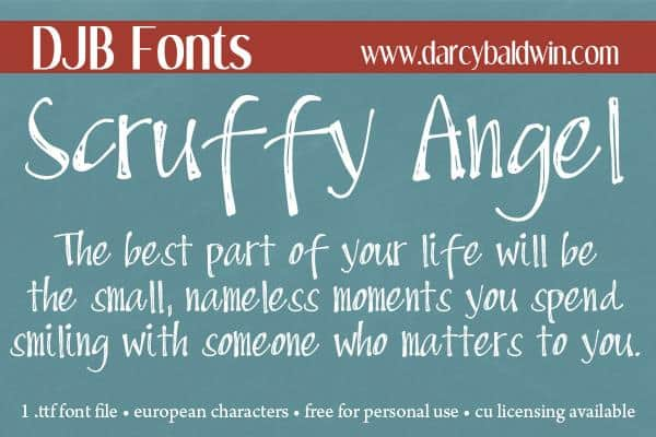 DJB Scruffy Angel шрифт скачать бесплатно