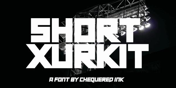 Short Xurkit шрифт скачать бесплатно