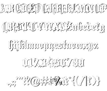 Blackletter шрифт скачать бесплатно