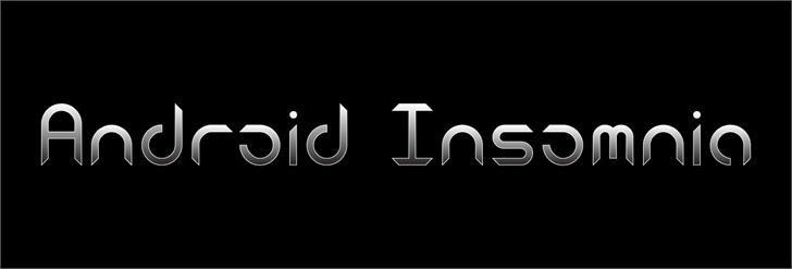 Android Insomnia шрифт скачать бесплатно
