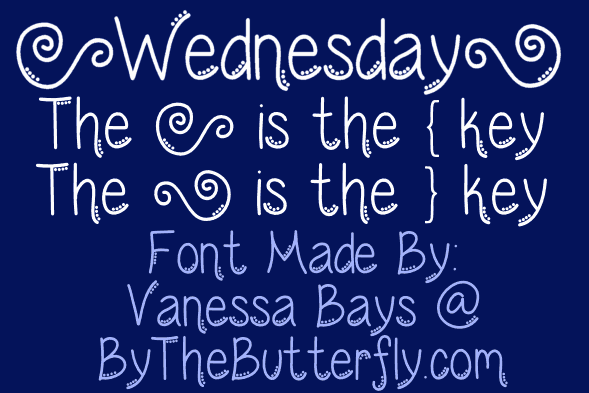 Wednesday шрифт скачать бесплатно