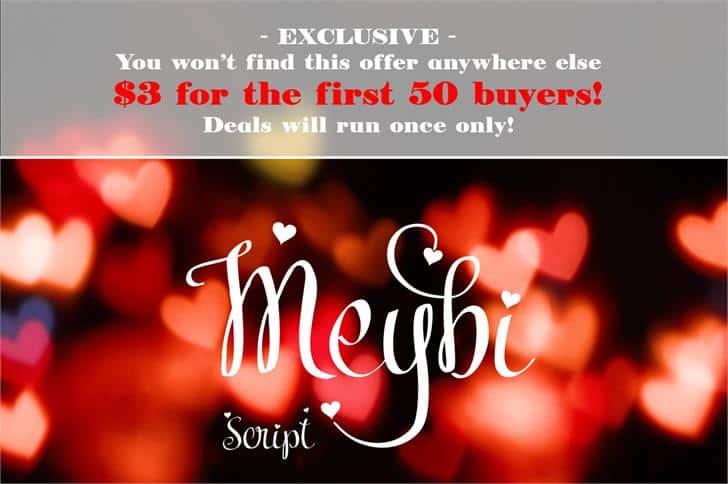 Meybi шрифт скачать бесплатно