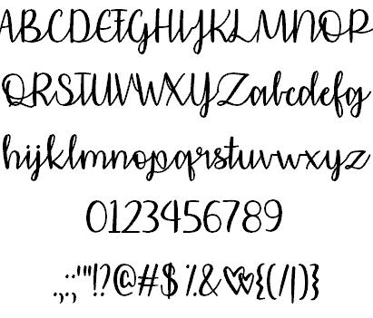 Affectionately Yours шрифт скачать бесплатно