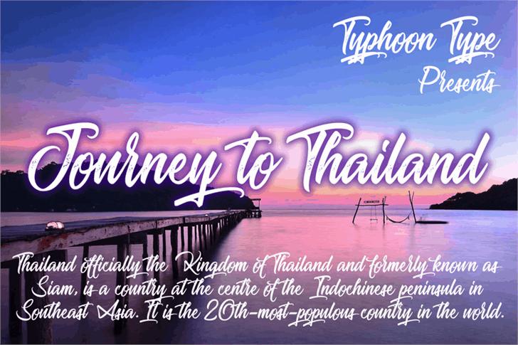 Journey to Thailand шрифт скачать бесплатно