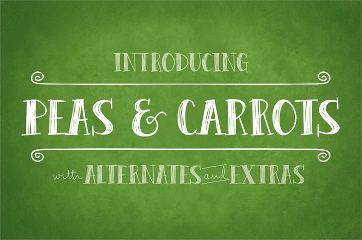 Peas & Carrots шрифт скачать бесплатно