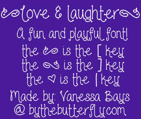 Love and laughter шрифт скачать бесплатно