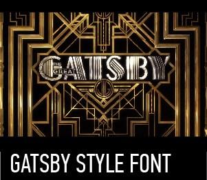 GATSBY STYLE FONT